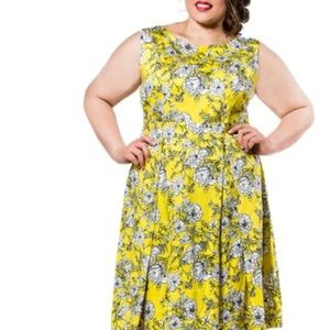POPPY & BLOOM Floral Fit and Flare Dress, 16